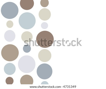 Retro blue and brown polkadot background