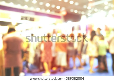 retro Blurred of people shopping in department store background. - stock photo