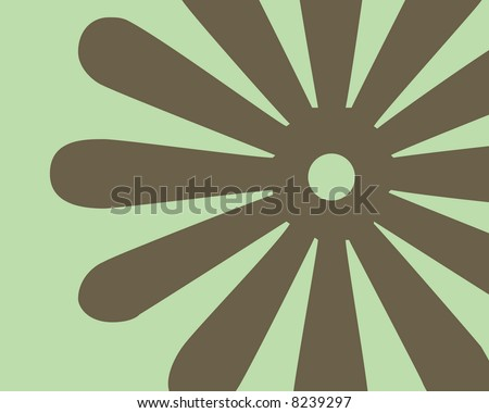 Retro brown and green flower background