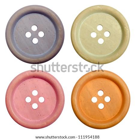 Retro buttons - stock photo
