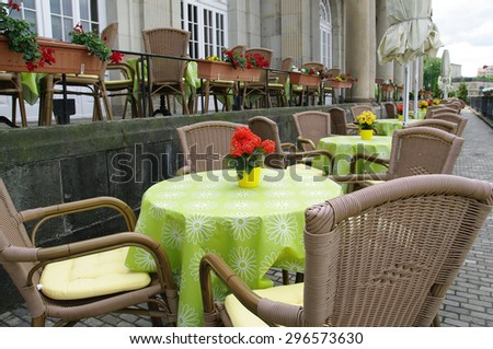 Retro cafe in Dresden - stock photo