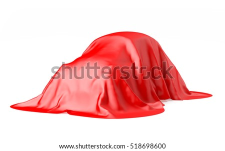 retro car under the tissue isolated on white. 3d illustration