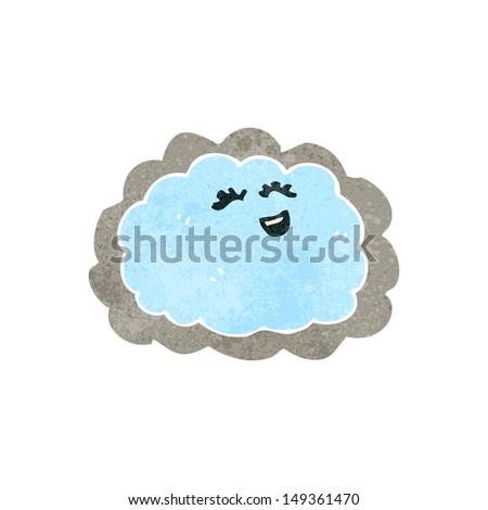 retro cartoon cloud with silver lining - stock photo