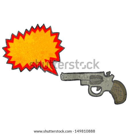 retro cartoon firing pistol