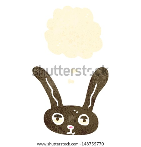 retro cartoon rabbit face