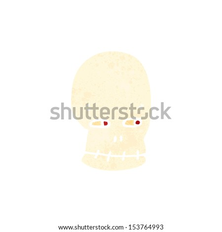 retro cartoon spooky skull