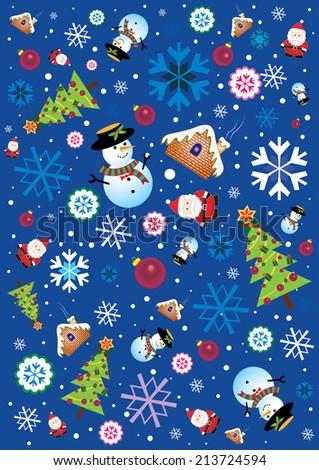 Retro Christmas Element - stock photo