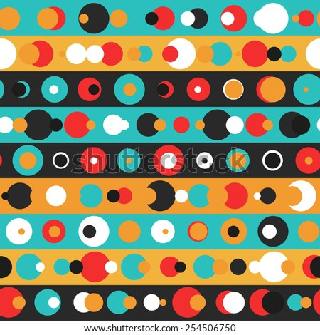 retro circle seamless pattern (raster version) - stock photo