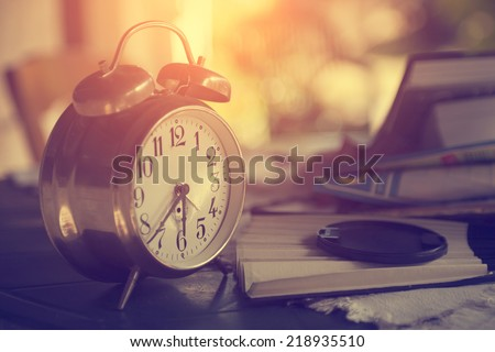 Retro clock - stock photo