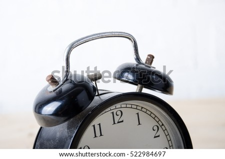 retro clock ring bell  time wake morning alarm waking countdown time