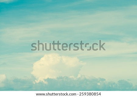 Retro cloud and sky background - stock photo