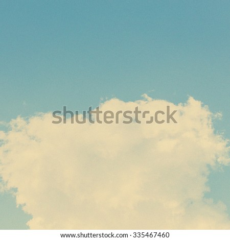 Retro cloud and sky background. - stock photo