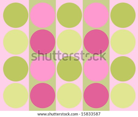 Retro colorful circles background