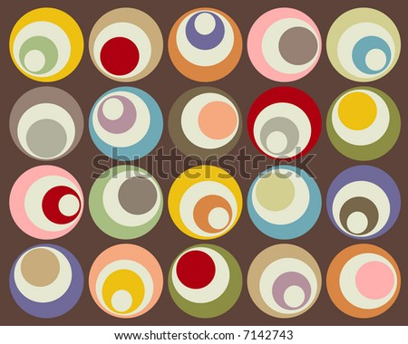Retro colorful circles design