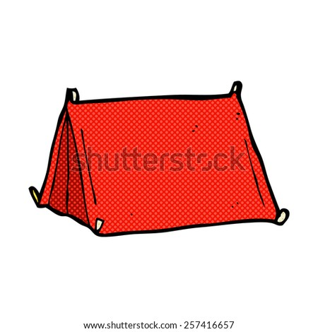 retro comic book style cartoon traditional tent