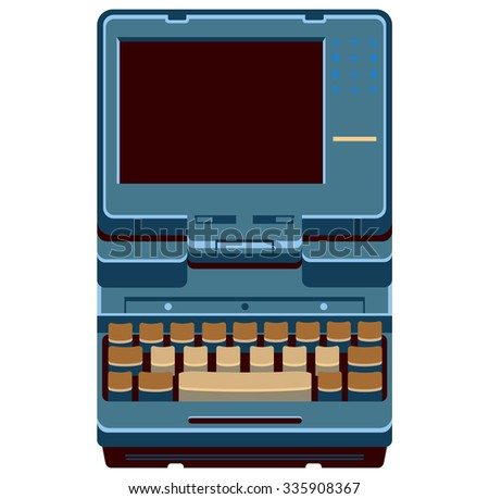 Retro computer laptop