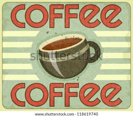 Retro Cover for Coffee Menu - JPEG version - stock photo