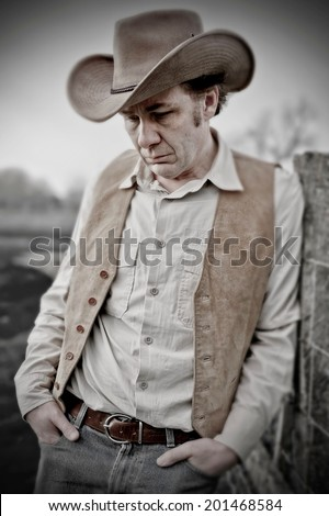Retro Cowboy - stock photo