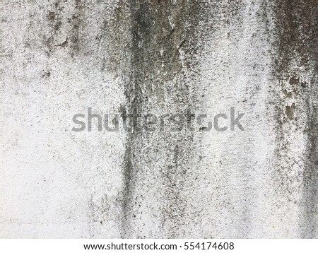 Retro dirty white paint concrete dark wall texture