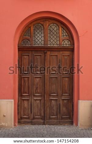 retro door - stock photo