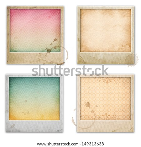 Retro film frame with vintage pattern - stock photo