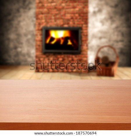 retro fireplace and old wall