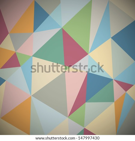 Retro geometric background.Raster version - stock photo