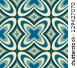 Retro Geometric Wallpaper Abstract Seamless Pattern - Raster Background - stock photo