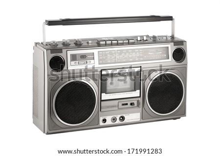 Cassette player stock images royalty free images vectors shutterstock - Ghetto blaster acheter ...