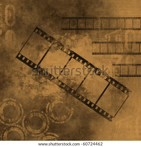 retro grunge background with film strips