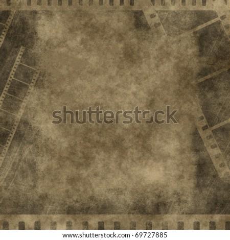 retro grunge background with film strips - stock photo