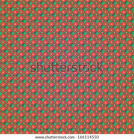 Retro Grunge Christmas Pattern or Old Wrap Paper  - stock photo