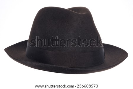 retro hat isolated on white
