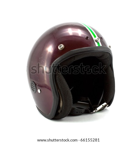 Retro helmet isolated on the white background - stock photo