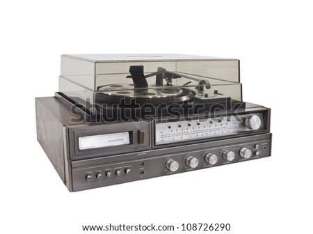 Retro Hi-Fi stereo isolated with clipping path.