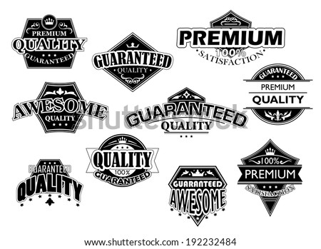 Retro labels and banners set for retail industry design. Vector version also available in gallery - stock photo