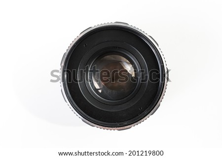 retro lens in white isolated