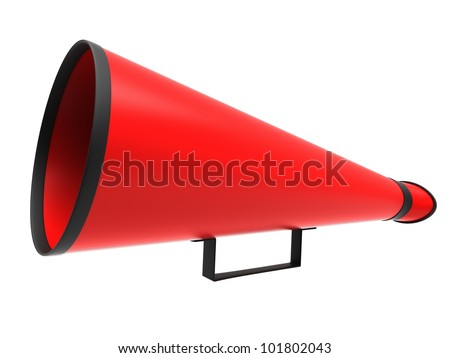 Retro megaphone in a red color