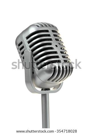 Retro microphone. (  Dynamic microphone )  - stock photo