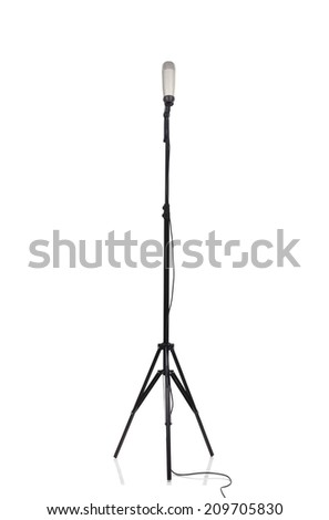 Retro microphone. isolated on a white background