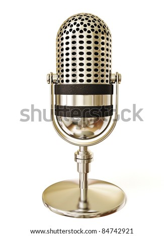 retro microphone isolated on a white background