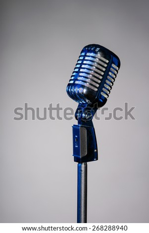 Retro microphone with space for text microphone with space for text