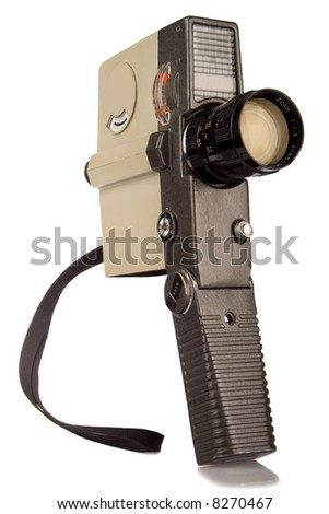 Retro 8mm film camera - stock photo