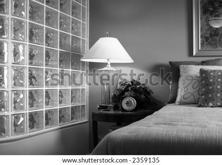Retro Noir 1950's Bedroom - stock photo