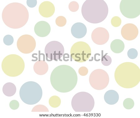 Retro pastel polkadots background