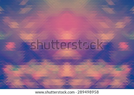 Retro pattern of geometric shapes. Colorful mosaic banner. Geometric hipster retro background with place for your text. - stock photo