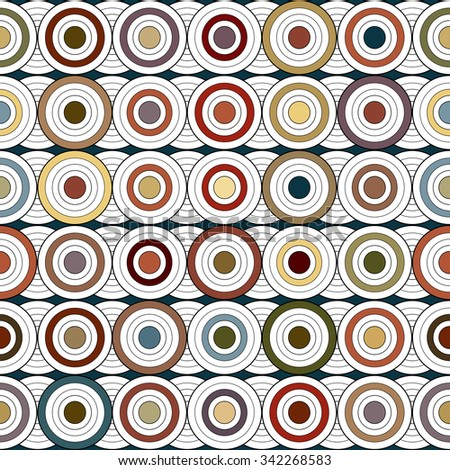 Retro pattern with circles