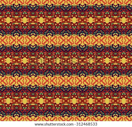 Retro pattern with swirls.  seamless red-brown pattern in retro style. Raster version