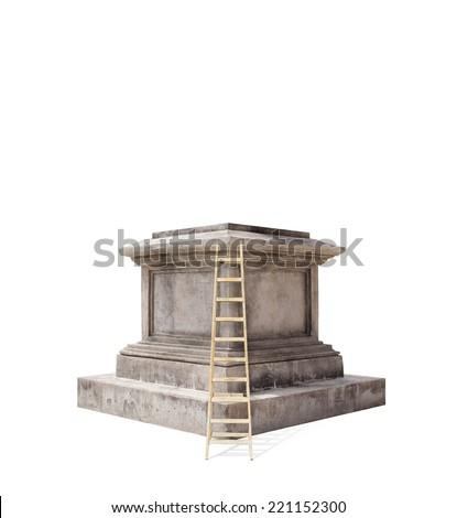 retro pedestal - stock photo