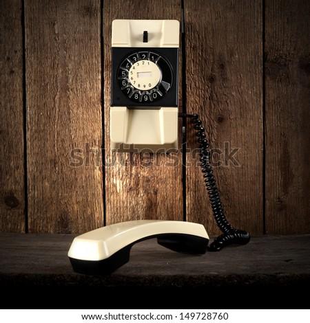 retro phone  - stock photo